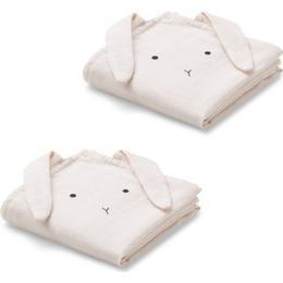 Liewood Hannah Muslin Cloth Rabbit 2-pack