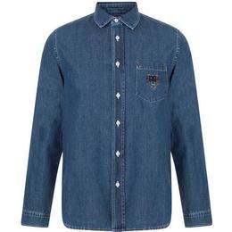 Kenzo Denim Tiger Shirt - Navy Blue