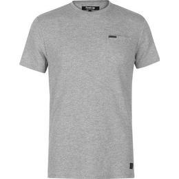 Firetrap Blackseal Herringbone T-shirt - Grey
