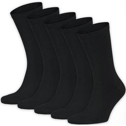 Frank Dandy Bamboo Solid Crew Sock 5-pack - Black