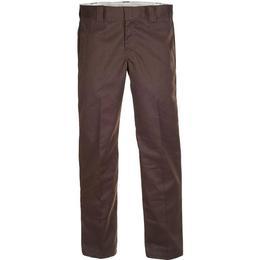 Dickies Slim Fit Straight Leg Work Pants - Dark Brown