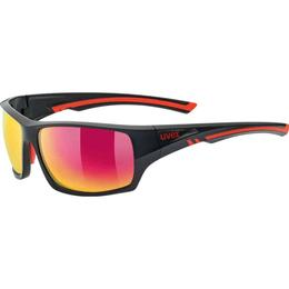 Uvex Sportstyle 222 Polarized Black Mat Red