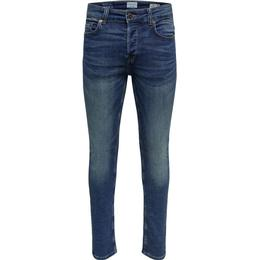 Only & Sons Loom Jog Slim Fit Jeans - Blue/Blue Denim