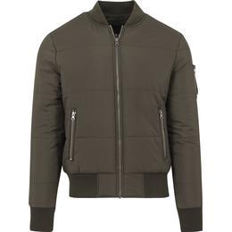 Urban Classics Basic Quilt Bomber Jacket Olive
