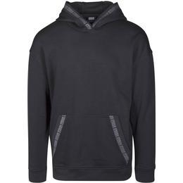 Urban Classics Oversize Logo Hoody - Black