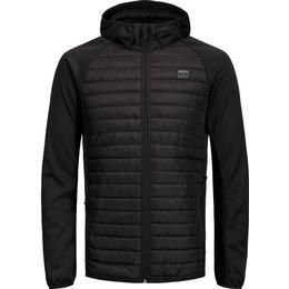 Jack & Jones Multi Quilted Jacket - Black/Black