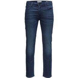 Only & Sons Loom Jog Slim Fit Jeans - Blue/Blue Denim