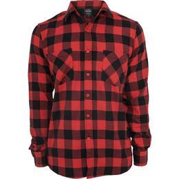 Urban Classics Checked Flanell Shirt - Black/Red