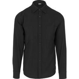 Urban Classics Checked Flanell Shirt - Black