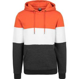 Urban Classics 3-Tone Hoody Chrome - Rust Orange/White/Charcoal