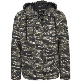 Urban Classics Tiger Camo Cotton Jacket - Olive/Black/White