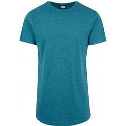 Urban Classics Shaped Melange Long T-shirt - Teal