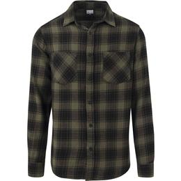 Urban Classics Checked Flanell Shirt 3 - Black/Olive