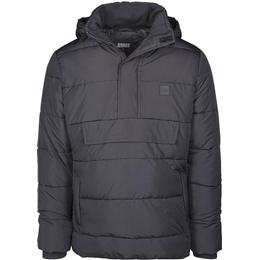 Urban Classics Pull Over Puffer Jacket - Black