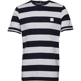 Les Deux Levoir T-shirt - Snow Melange/Navy