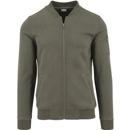 Urban Classics Sweat Bomber Jacket - Olive