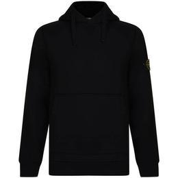 Stone Island Badge Hooded Sweatshirt - Black V0029