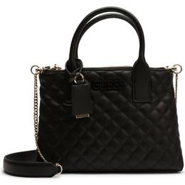 Guess Elliana Quilted Status Satchel - Black