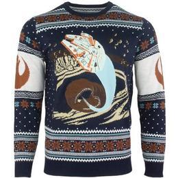Numskull Star Wars Millennium Falcon Space Slug Escape Christmas Jumper - Blue