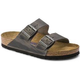 Birkenstock Arizona Soft Footbed Oiled Leather - Iron