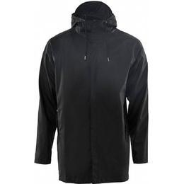 Rains Short Coat Unisex - Black