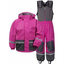Didriksons Boardman Fodrat Regnställ - Plastic Pink (502685-322)