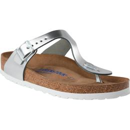 Birkenstock Gizeh Soft Footbed Natural Leather - Metallic Silver