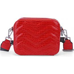 Noella Zig Zag Crossover Bag - Red Snake