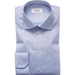 Eton Contemporary Fit Signature Twill Shirt - Light Blue