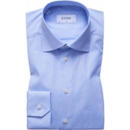 Eton Super Slim Fit Poplin Shirt - Sky Blue