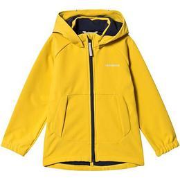 Didriksons Kid's Poggin Softshell Jacket - Oat Yellow (502632-321)