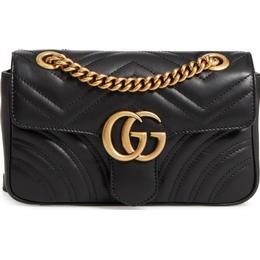 Gucci GG Marmont Quilted Mini Bag - Black Leather