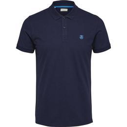 Selected Slharo Polo Shirt - Blue/Peacoat