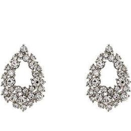 Lily and Rose Petite Alice Earrings - Silver/Transparent
