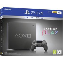 Sony PlayStation 4 Slim 1TB - Days of Play - Limited Black Edition