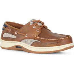 Sebago Clovehitch Waxed Leather Boat - Brown Cinnamon