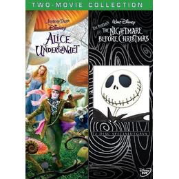 Alice i Underlandet/Nightmare Before Christmas (3-disc)