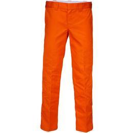 Dickies 873 Slim Fit Straight Leg Work Pants - Energy Orange