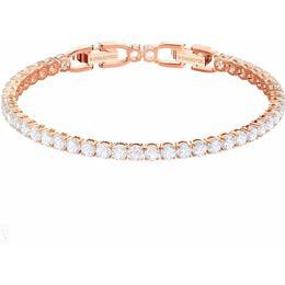 Swarovski Tennis Deluxe Rhodium Plated Brass Silver Bracelet w. White Crystal (5464948)