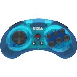 Retro-Bit Sega Mega Drive 8-B Wireless Controller - Blue