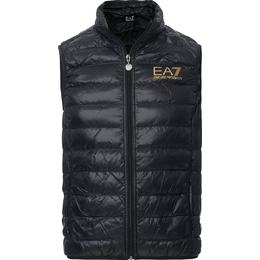Emporio Armani EA7 Train Core Light Down Vest - Black/Gold