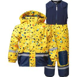 Didriksons Boardman Printed Kid's Set - Pollen Yellow Terazzo (503018-816)