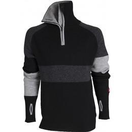 Ulvang Rav Limited Sweater w/zip - Black/Charcoal Melange/Grey Melange
