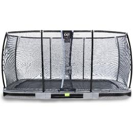 Exit Elegant Premium Ground Trampoline 244x427cm + Deluxe Safety Net