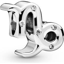 Pandora Sparkling Capricorn Zodiac Charm - Silver/Transparent