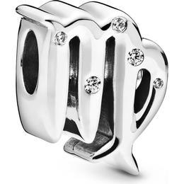 Pandora Sparkling Virgo Zodiac Charm - Silver/Transparent