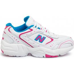 New Balance 452 M - White with Exuberant Pink and Vision Blue