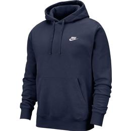 Nike Club Fleece Hoodie Unisex - Midnight Navy/White