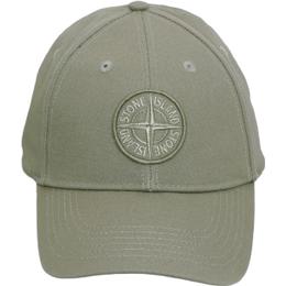Stone Island Logo Patch Cap - Olive