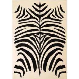 vidaXL Modern Zebra (120x170cm) Beige, Svart